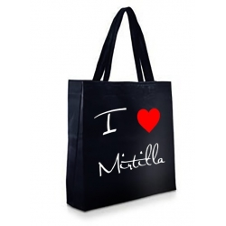 Shopper Nera in TNT - I LOVE MIRTILLA