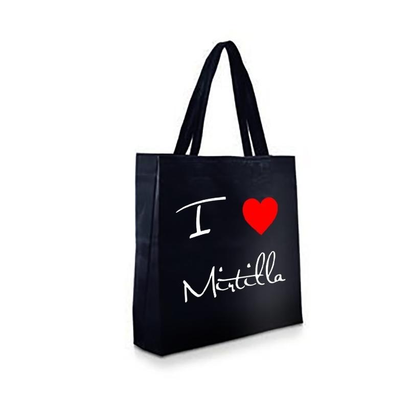 Shopper Nera in TNT - I LOVE MIRTILLA