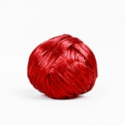 Natural Rafia Yarn - Red