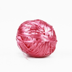 Natural Rafia Yarn - Pink
