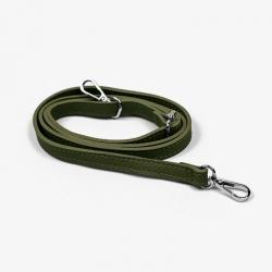 Tracolla in vera pelle - Verde militare
