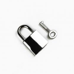 Lucchetto con chiave colore Nikel