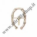 Fibbia a ferro di cavallo stampa bambù A113