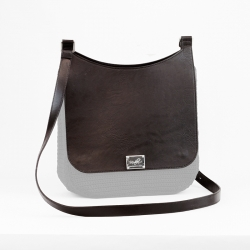Plain Sella Bag Flap - Brown