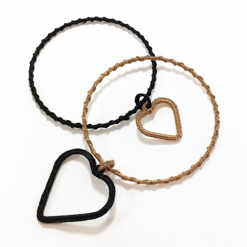 Bracciali realizzati con Kit Bracciale cuore