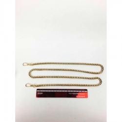 catena quadrata oro 120cm