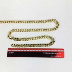 catena piatta grande oro 10mm