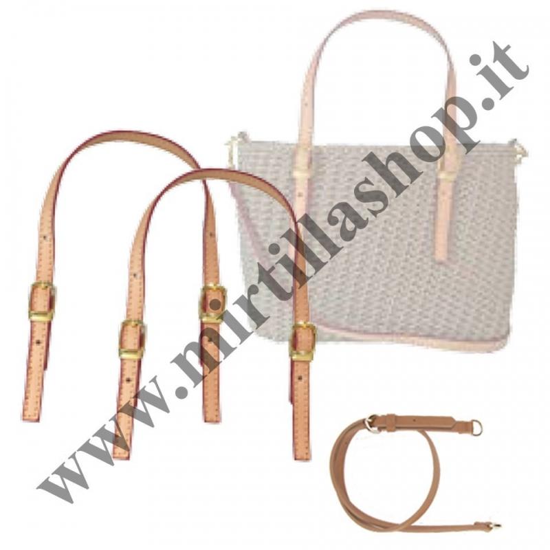 Kit M21 Manici e tracolla pelle cuoio