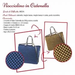 Scheda Tutorial per Borsa Nocciolino in Catenella